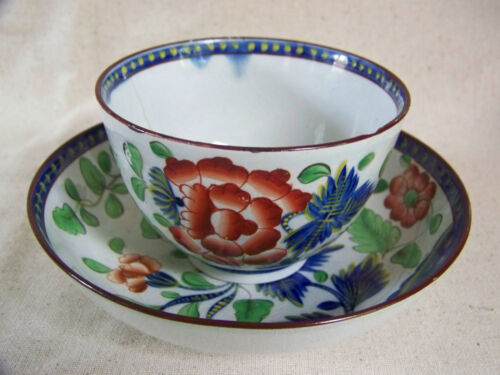 Gaudy Dutch CARNATION Pattern CUP and SAUCER #4