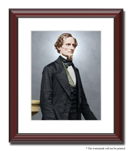 "President Jefferson Davis Confederate 11x14"" Framed Photo Color Civil War-23852"