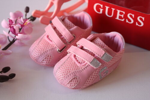 BNIB Genuine Guess Baby Girls Sneakers Pink & White Size 0-3