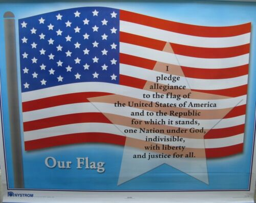 NYSTROM 2 LAYER pull down MAP our flag and PLEDGE OF ALLEGIANCE map # 1fsc