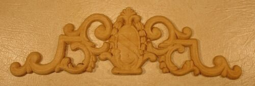"WOOD EMBOSSED APPLIQUE CARVING  4""  X  13 3/4""   HQ469"