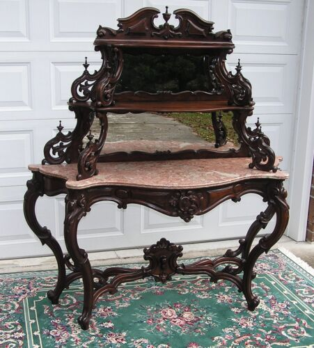 FANCY VICTORIAN ROCOCO ROSEWOOD ETAGERE