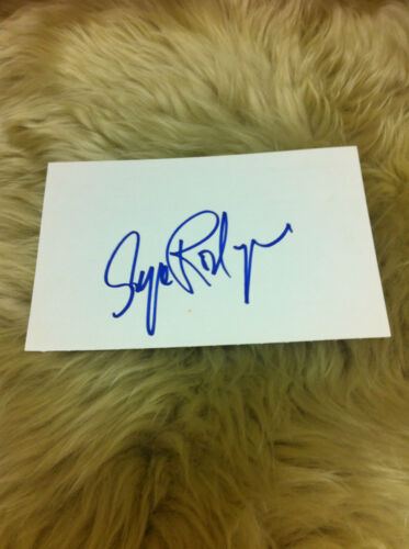 RODRIGUE Blue Dog George Rodrigue Signed Index Card Beautiful and Very RARE #2