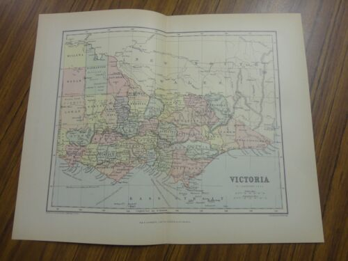 Nice color map of Victoria.  Printed 1892 by Chambers.