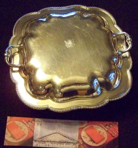 RARE OLD ENGLISH GADROON SILVER SMALL SQUARE SIZED COVERED DOUBLE ENTREE DISH