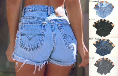 Vintage Womens Levis Denim High Waisted Shorts Jeans Hotpants All Sizes Cut Offs