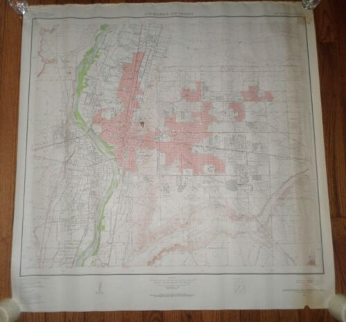 Fantastic, very large colored map of Albequerque (1954) Scarce!