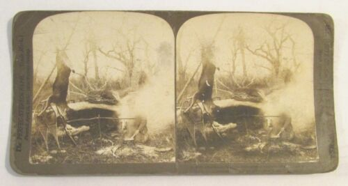 ANTIQUE 1904 STEREOVIEW PHOTO / AFTER THE DAYS HUNT IS OVER / H C WHITE