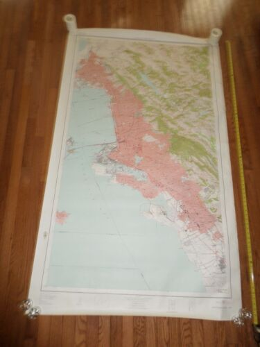 Fantastic, very large colored map of Oakland (1947) Scarce!