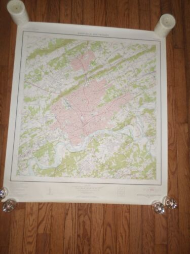 Fantastic, very large colored map of Knoxville (1953) Scarce!