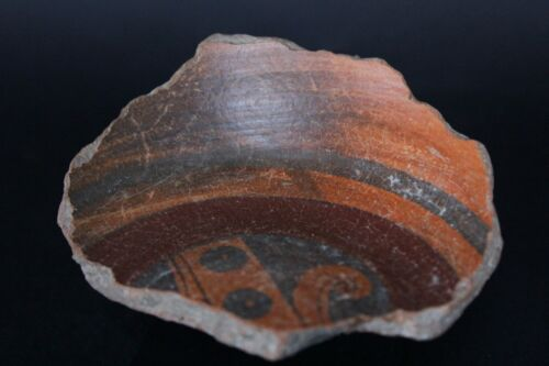 MAYAN SMALL POLYCHROME FRAGMENT 600 - 800 A.D.