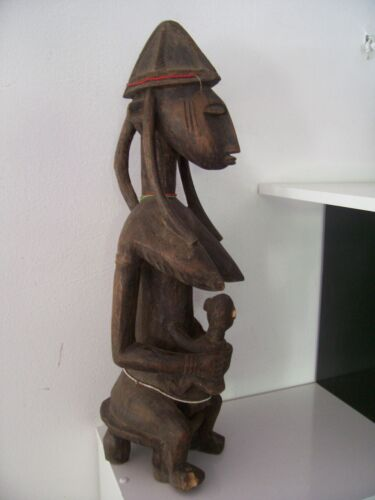 Old African statue Bamana Mali african art africain premier tribal