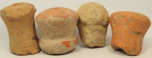 ROMAN TERRACOTTA AMPHORA STOPPERS LOT OF 4