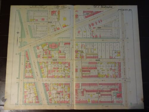 1892 Map of NW DC- Gonzaga Area - Rare large property specific detail
