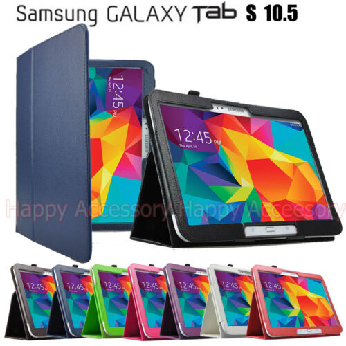 Flip Leather Case Folder Cover for Samsung Galaxy Tab S 10.5 T800, T801, T805