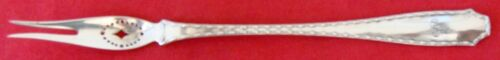 """Tiffany MARQUISE Sterling Silver 6 7/8"""" PIERCED OLIVE FORK, 2-Tine"""
