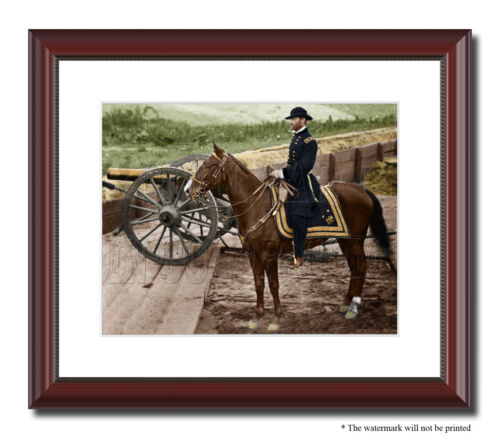 Gen Sherman Atlanta Fort Horse 11x14 Framed Photo Print Color Civil War - 03628