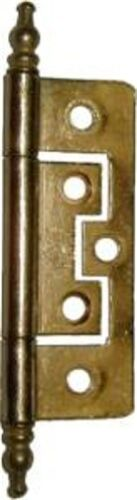 No Mortise Cabinet Hinge - Brass Plated   D1701