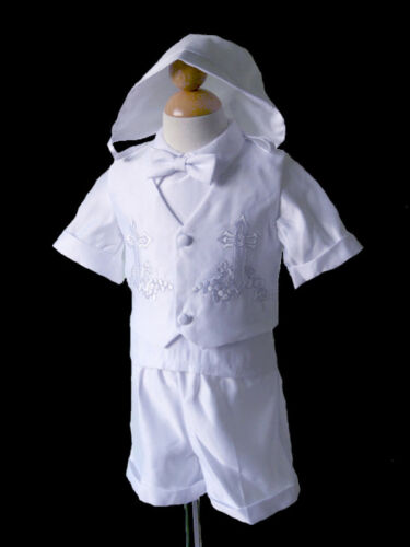 Boys Toddler, Infant Christening, Baptism Outfit , White, Size: Small to 4T
