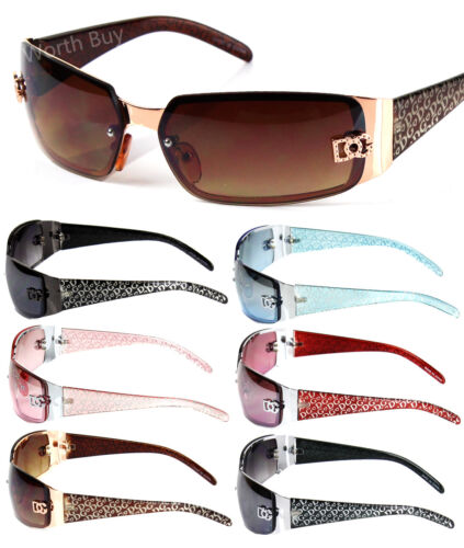 New DG Eyewear Womens Wrap Oval Rectangular Sunglasses Designer Shades Fashion