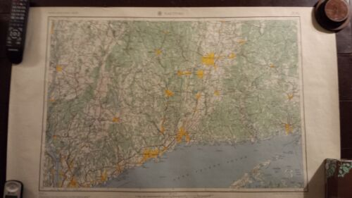 1950 - ANTIQUE Map of Cleveland & Akron, Ohio - Topographic - US Army