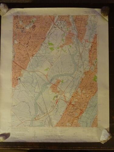 1955 - Map of WEEHAWKEN Quadrangle - NEW JERSEY - NEW YORK - Topographic