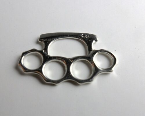 Brass Knuckle Dusters .925 STERLING SILVER Jewelry Pendant Charm CD0168/S