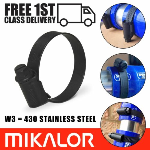 Black Hose Clamps / Clips Mikalor Stainless Steel Mikalor Fuel Pipe Worm Drive