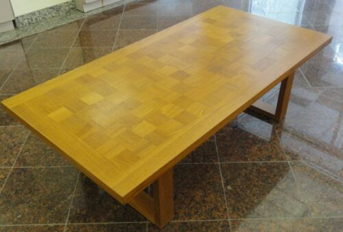 CADO Danish Modern Mid Century Checkerboard Teak Table
