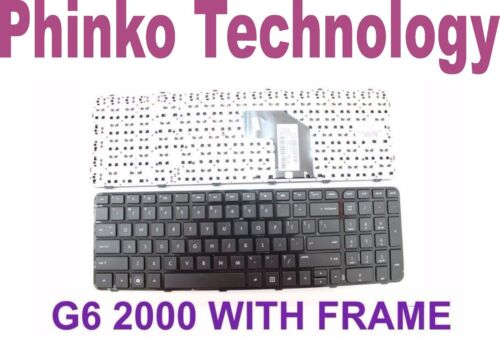 new Keyboard with frame for HP Pavilion g6-2000 series Laptop Black US layout
