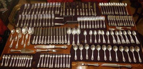 Frank Whiting American Sterling Silver Flatware Service for Twelve BOTTICELLI