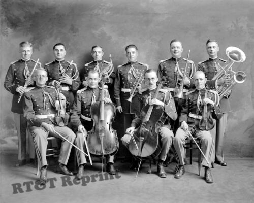 Photograph USMC  / Marine Corps Band  Washington DC  Year 1910 8x10Reproductions - 156388