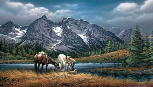 Terry Redlin FOR PURPLE MOUNTAIN MAJESTIES S/N paper Limited Edition Tetons NEW