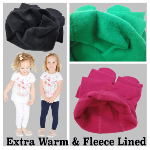 NEW CHILDRENS KIDS GIRLS WINTER THERMAL COTTON LEGGINGS ALL AGES  <br/> * VERY WARM**EXTRA THICK** **ALL COLOURS**