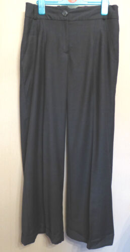 Laura Ashley UK8 EU36 grey tailored turn-up trousers with 52% wool