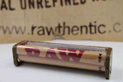 1 AUTHENTIC RAW HEMP ROLLING PAPER MACHINE HAND ROLLER 110MM KING SIZE