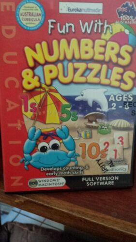 Fun with Numbers & Puzzles Ages 2-6 PC GAME *