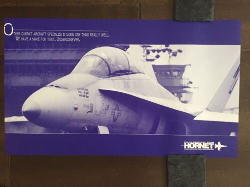 COLOR Glossy FA-18 Hornet Industry Team Aircraft Poster-circa 1990sReproductions - 156452