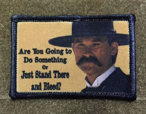 Tombstone Stand There and Bleed Morale Patch Tactical Military USA Hook Badge Army - 48824