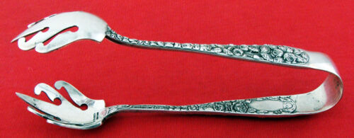 RARE Schofield BALTIMORE ROSE Sterling Silver ICE TONGS