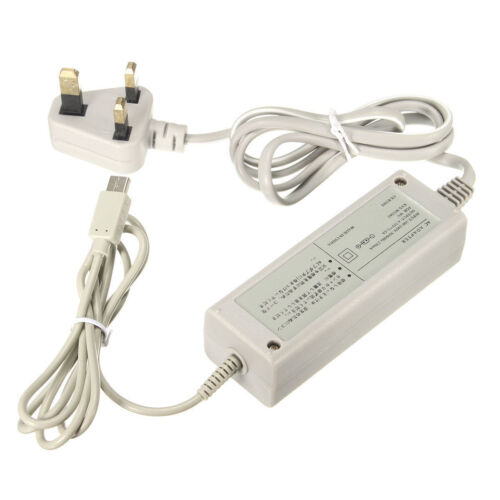 New Power Supply Cable Wall Plug Charger Adapter for Nintendo Wii U Gamepad UK