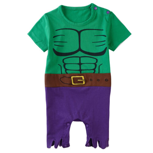 Baby Boy Girl Superhero Costume Romper Newborn Halloween Playsuit Infant Outfits
