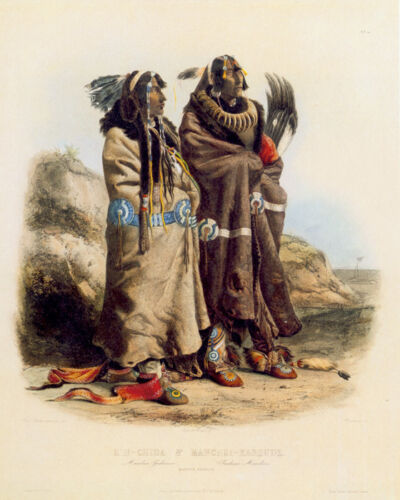 Mandan Indians 15x22 Karl Bodmer Native American Indian Art