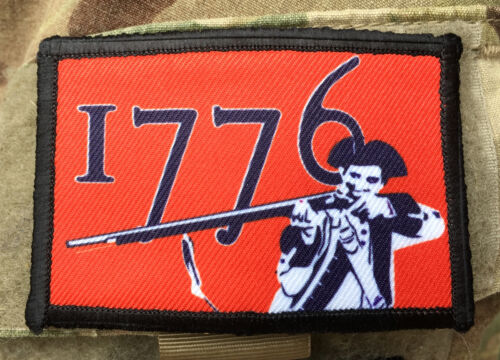 Patriot 1776 Morale Patch Tactical Military USA Hook Badge Army Flag Army - 48824