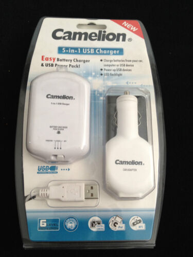 Camelion 5-in-1 USB Charger - NEW -