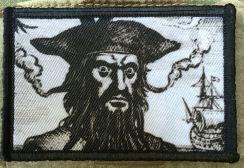 Blackbeard the Pirate Morale Patch Tactical Military USA Hook Badge Army FlagArmy - 48824