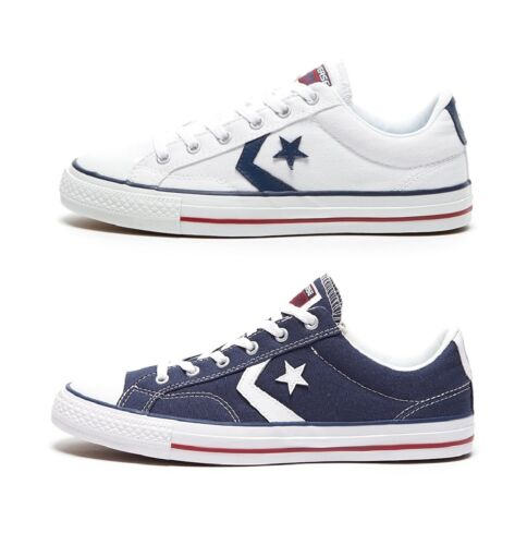 CONVERSE STAR PLAYER OX - UNISEX TRAINERS - BLACK or WHITE or NAVY - BRAND NEW