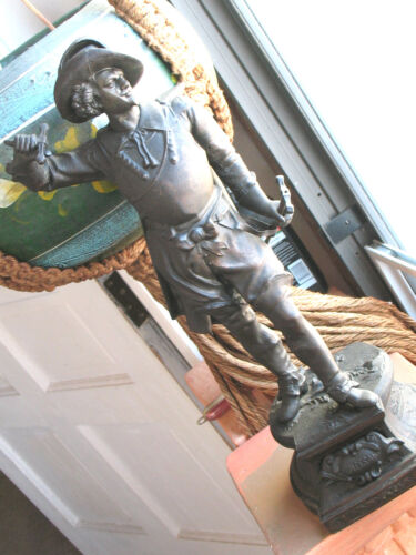 CAST  METAL  FIGURE  OF  DON  CESAR  21'' TALL  APPROX  9 LBS  VINT.