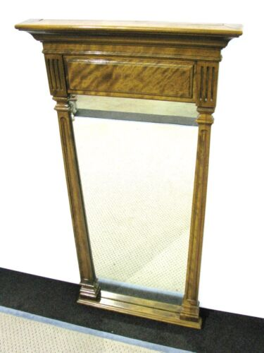 """Ethan Allen Maple Pier or Hall Mirror Neoclassic Style 48"""" X 24"""""""