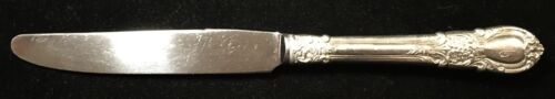 """Sterling Silver Flatware - Lunt American Victorian Regular Knife French """"M"""" Mono"""